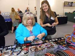Lynda at a Bead Show